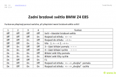 BMW Z4 E85 3.brzdove svetlo - 1 - 63256917378, 63256930246