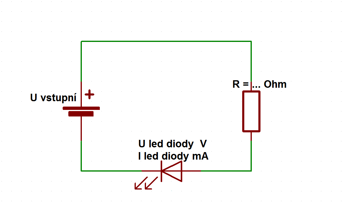 předřadný odpor pro LED diodu